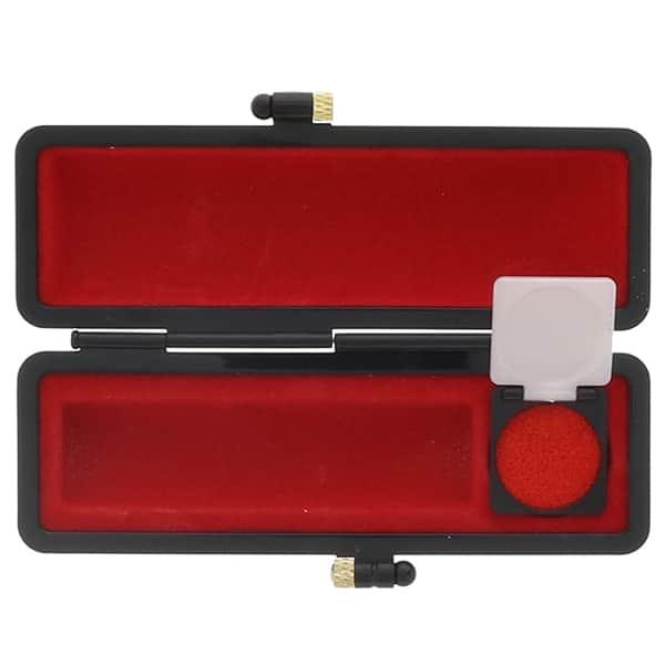 印鑑 芯持黒水牛 13.5mm オリジナルブラックケース 銀行印・実印向き