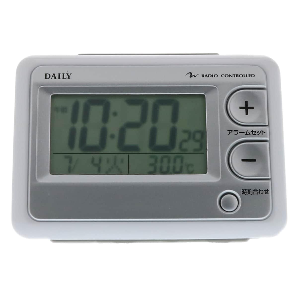 リズム時計 デイリー 目覚まし電波時計 ジャストウェーブ 8RZ095