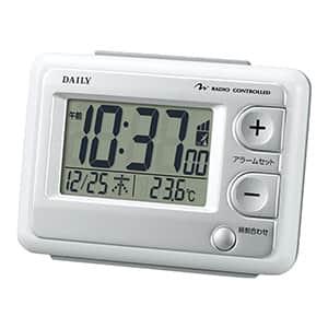【在庫限り27台】リズム デイリー 目覚まし電波時計 ジャストウェーブ 8RZ095