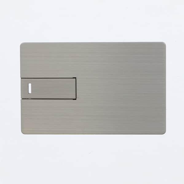 【受注生産】USBメモリー カードタイプⅢ シルバー 8GB