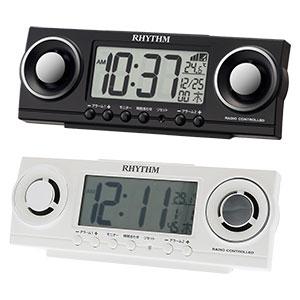 リズム時計 リズム デジタル時計 フィットバトラージューク 8RZ177SR 黒 白