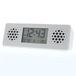 リズム時計 リズム デジタル時計 アクアプルーフ ミュージック 8RDA73RH 白