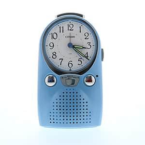 シチズン 録音再生機能付めざまし時計 4SE521 青パール色(白) 卓上