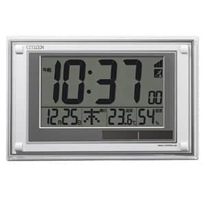 シチズン デジタル電波時計 ソーラーパワーアシスト式 8RZ189 白 掛置兼用