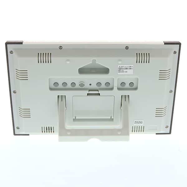シチズン デジタル電波時計 8RZ188 茶色メタリック 掛け置き兼用