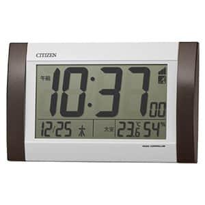 シチズン デジタル電波時計 8RZ188 茶色メタリック 掛置兼用