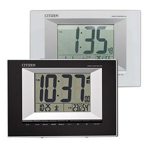 シチズン デジタル電波時計 8RZ181 黒 白 掛置兼用