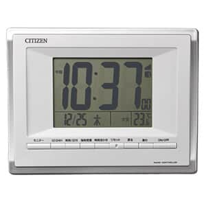 シチズン デジタル電波時計 8RZ185 パルデジットビブラート 白 卓上