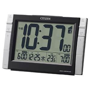シチズン デジタル電波時計 パルデジットワイドDS 8RZ150 黒 掛置兼用