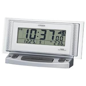 シチズン デジタル電波時計 パルデジットボイスⅡ 8RZ102 シルバーメタリック 卓上