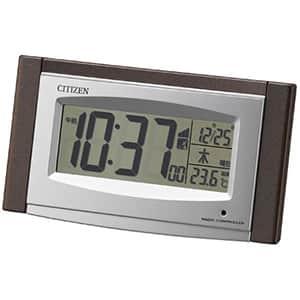 シチズン デジタルソーラー電波時計 8RZ190 茶メタリック 卓上
