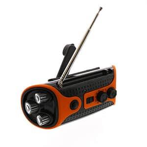 ハンドクランクラジオ LEDライト