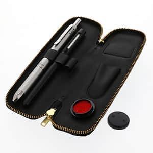 ビジネス文具セットスリム ノック式多機能ペン ボールペン2色+シャープペン