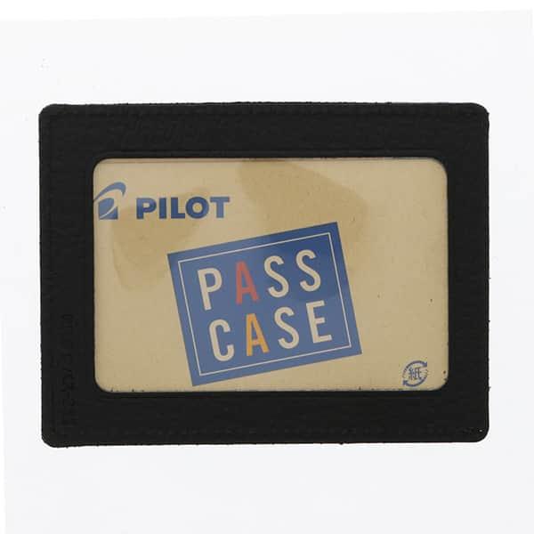 パイロット パスケース シングル 革製 ブラック ブラウン