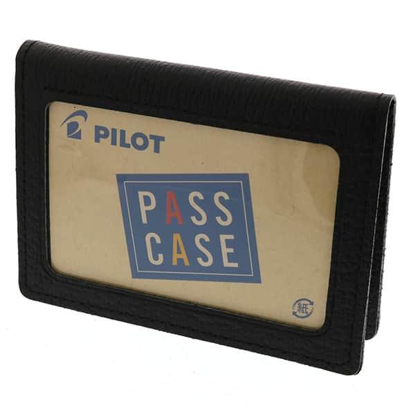 パイロット パスケース ダブル 革製 ブラック ブラウン