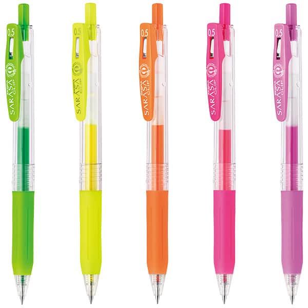 ゼブラ サラサクリップ ネオンカラー 水性ボールペン 0.5mm JJ15