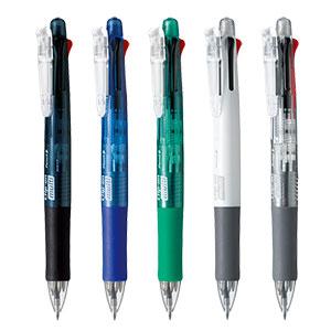 ゼブラ クリップ-オン マルチ 4色ボールペン+シャープペン B4SA1