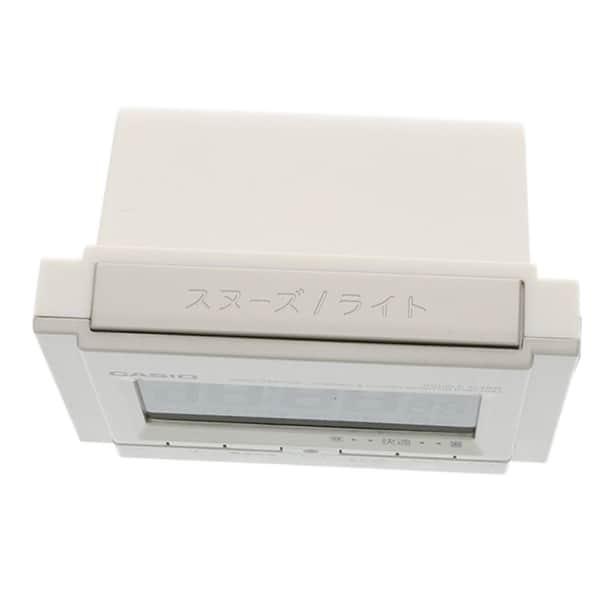 カシオ ダブル電子音アラーム 温湿度計付 電波時計 DQD-705J-8JF