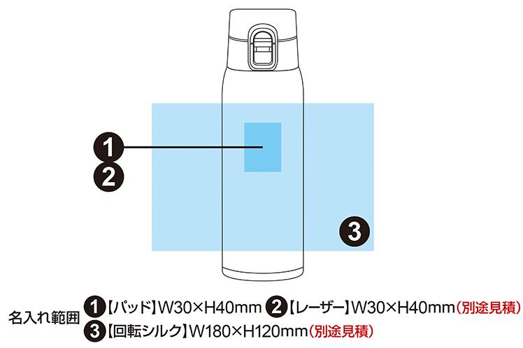 軽量ステンレスワンタッチボトル 500ml 4色展開