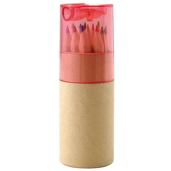 シャープナー付色鉛筆 12P