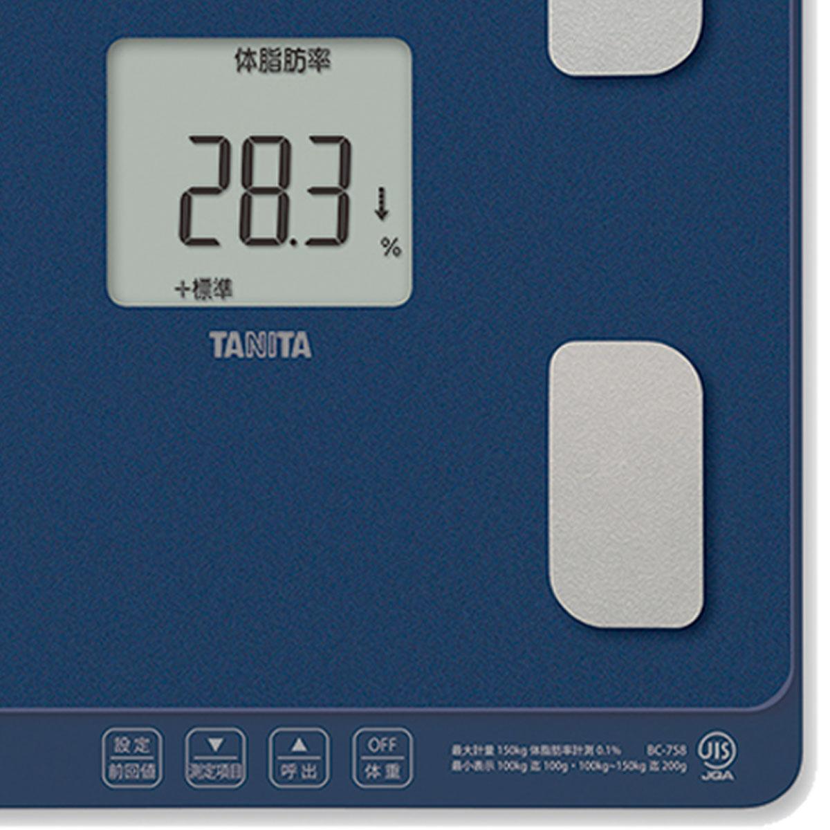 タニタ 体組成計 体重急激増減お知らせ機能付 BC-758