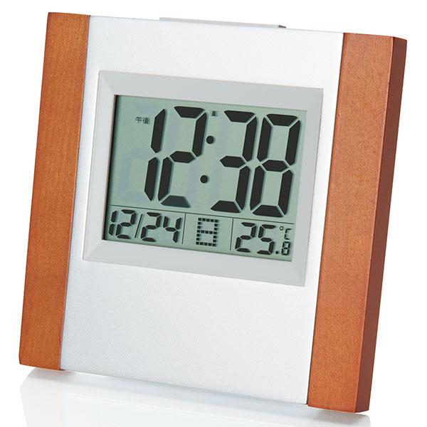 ウッド電波時計 卓上タイプ