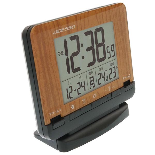 目覚まし電波時計 バックライト付