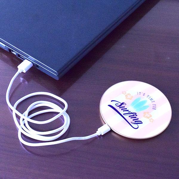 Qi対応サークルワイヤレス充電器