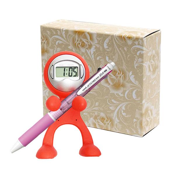クロックレンジャー 三菱鉛筆 ジェットストリーム 3機能トリプルペンセット 包装箱入り