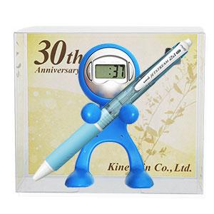 【周年記念品台紙】クロックレンジャー 三菱鉛筆 ジェットストリーム 3機能トリプルペンセット