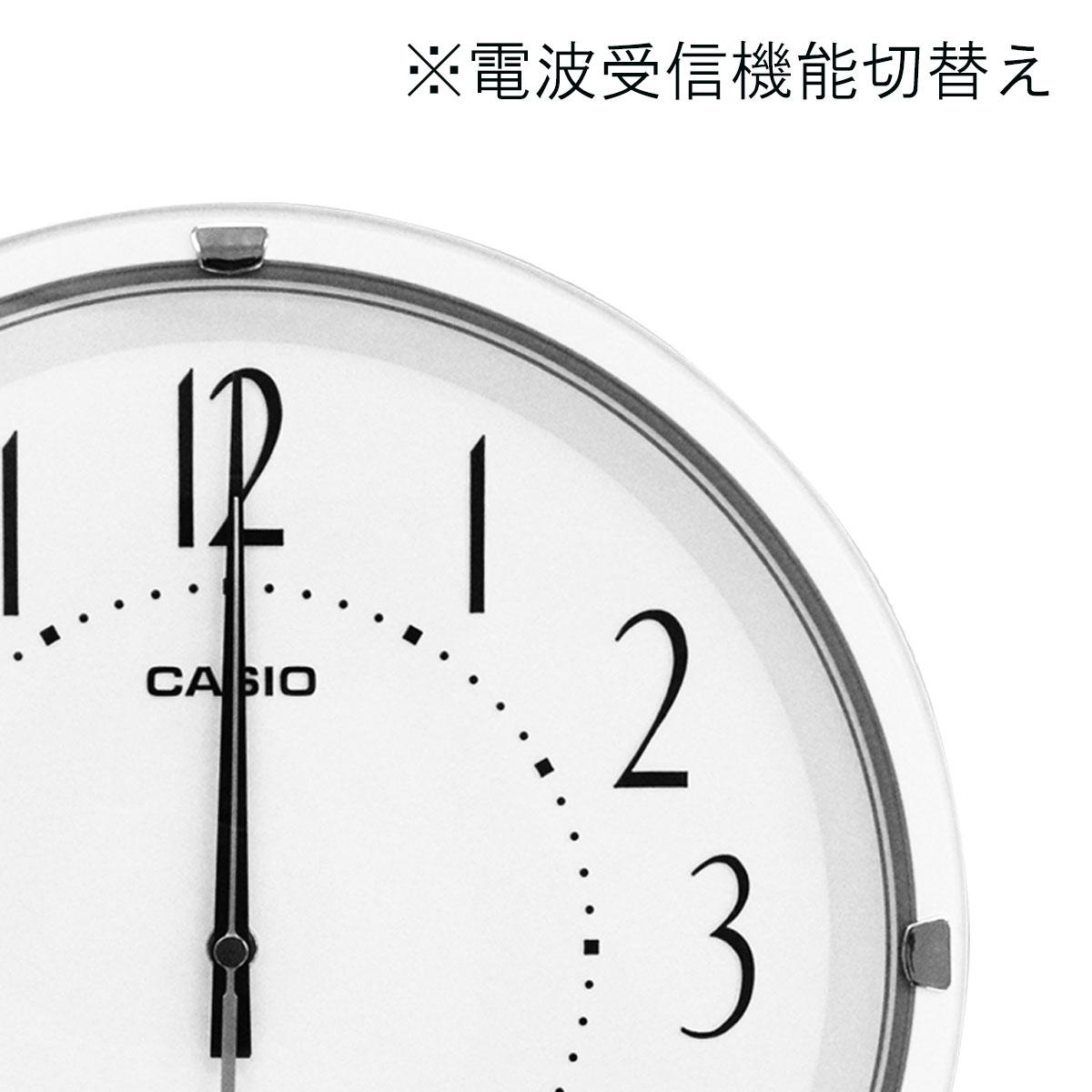 カシオ スタンダード電波掛時計 IQ-1006J-7JF