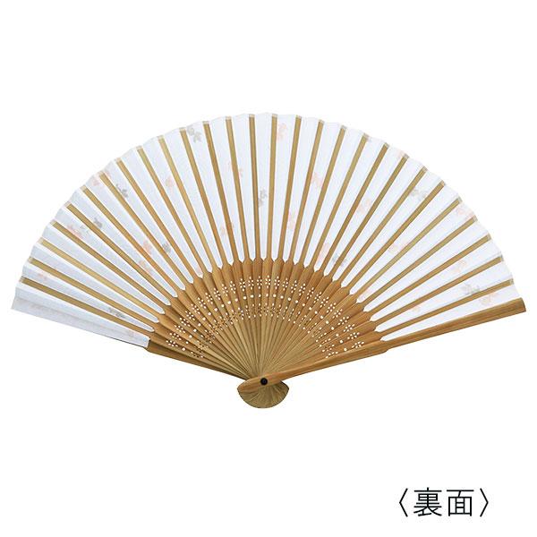 彩り和紙扇子 唐木中彫 金魚