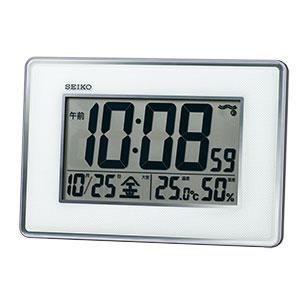 セイコークロック 掛け置き兼用デジタル電波時計 SQ443S