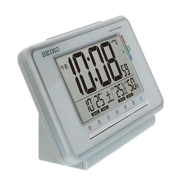 セイコークロック ウィークリーアラーム付き電波目覚まし時計 SQ775W