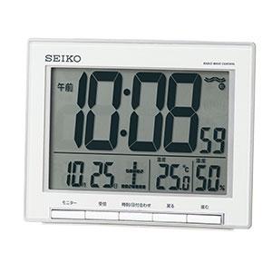 セイコー 温湿度表示付き電波目覚まし時計 SQ786S