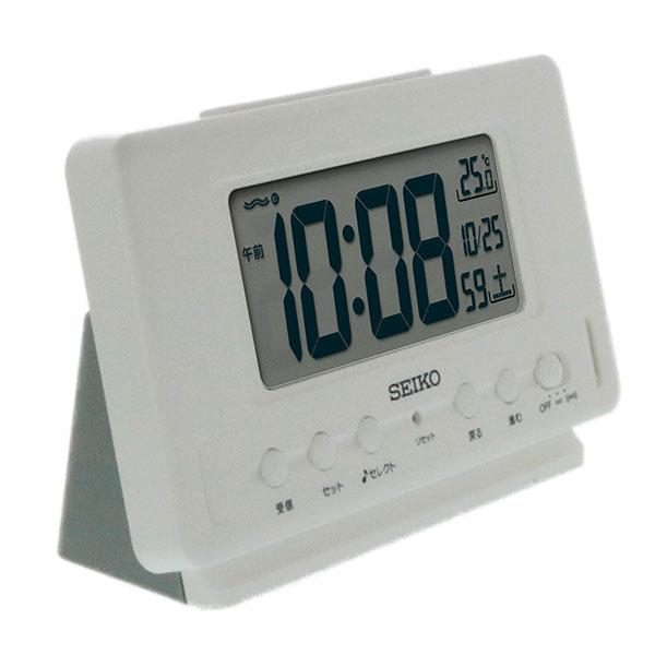 セイコークロック 電波目覚まし時計 SQ796W