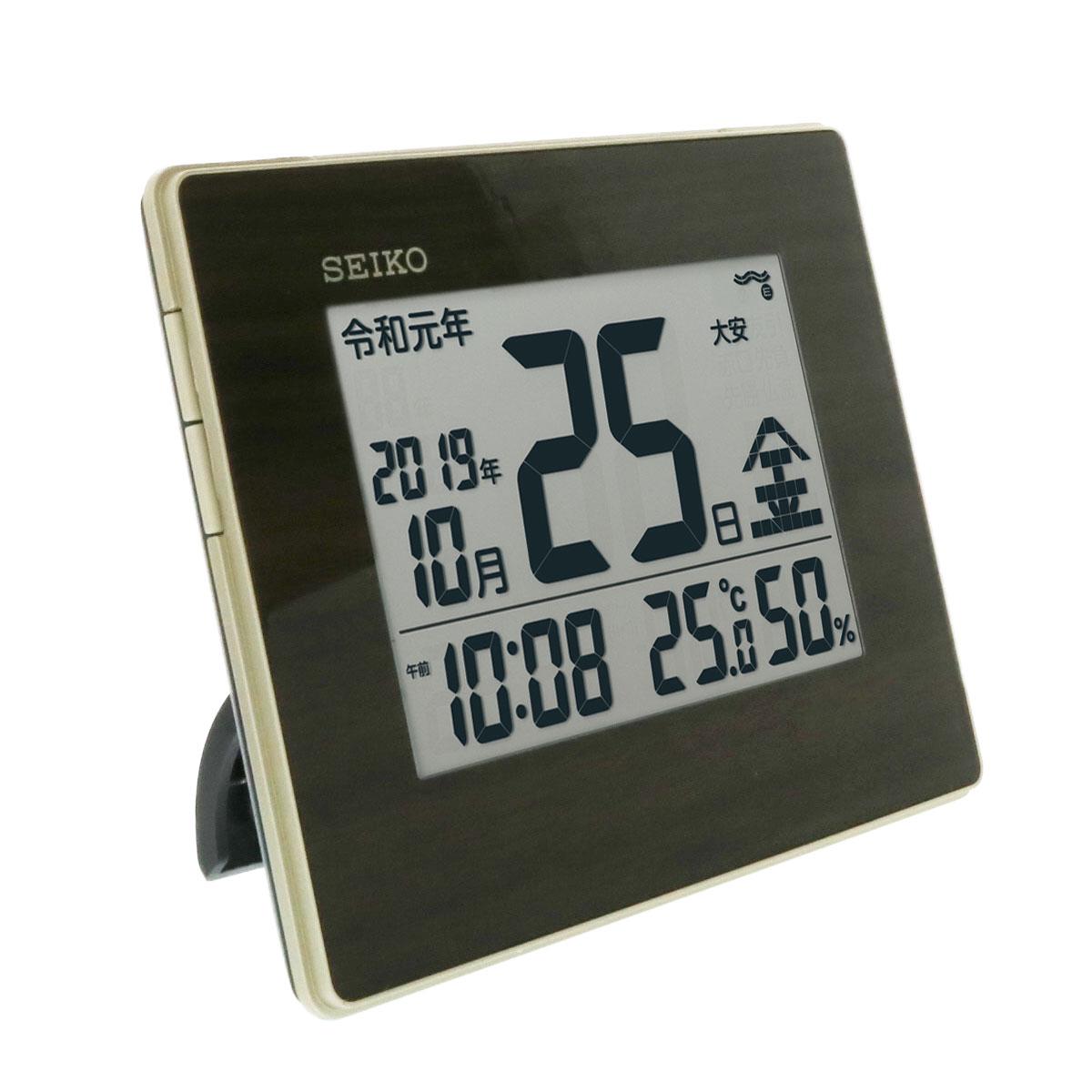 セイコークロック 掛け置き兼用デジタル電波時計 SQ442B