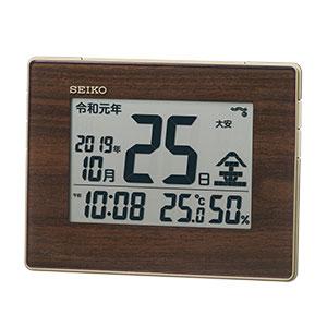 セイコー 掛け置き兼用デジタル電波時計 SQ442B
