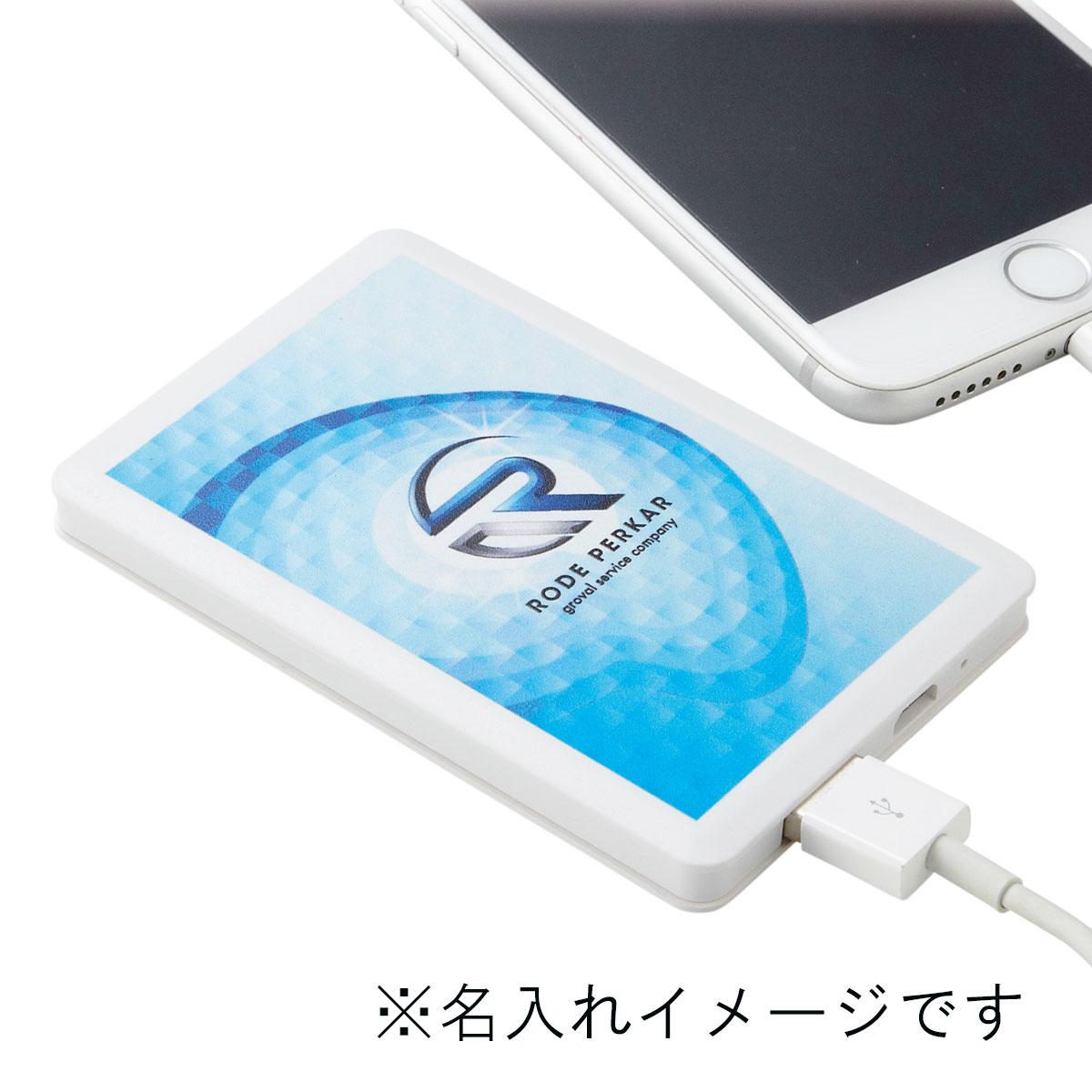 モバイルバッテリー2500mAh (バッテリー蓄電用ケーブル付き)