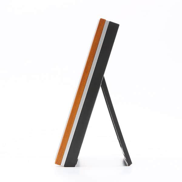 木製フォトフレーム電波時計 置掛兼用