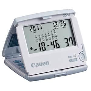 キヤノン トラベルクロック電卓機能付 CC-56