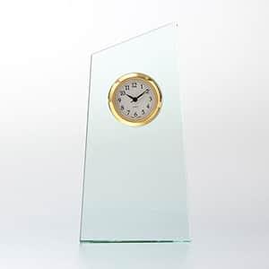 ガラス製 FLトロフィー セイコークロック製時計付