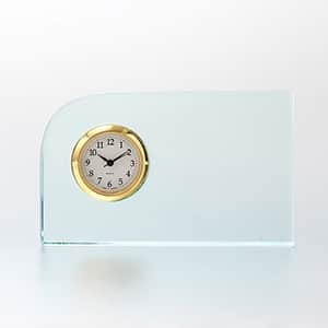 ガラス製 FLコーナー セイコークロック製時計付