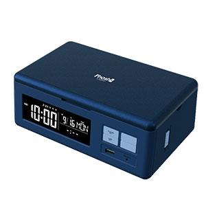 Qi対応 ワイヤレス&USB充電対応デジタルクロック Phosh (フォッシュ)
