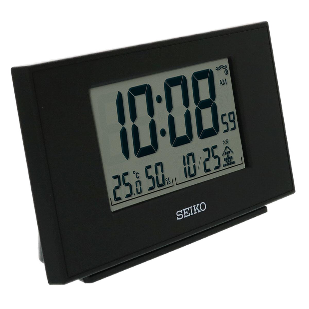 セイコー 温湿度計付電波時計 SQ790