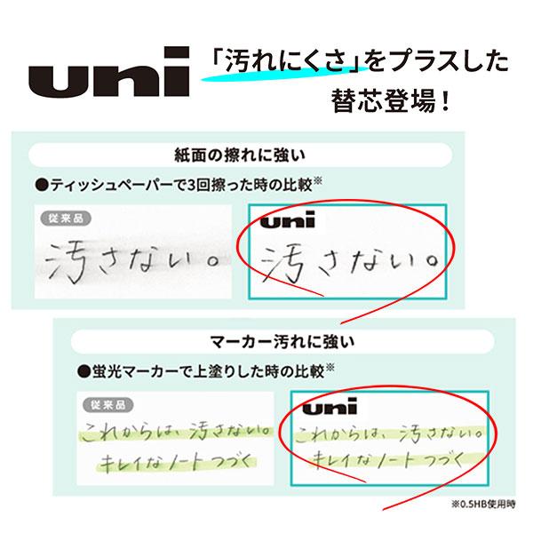 三菱鉛筆 uni(ユニ)シャープ替芯 0.5mm(HB・B・2B)
