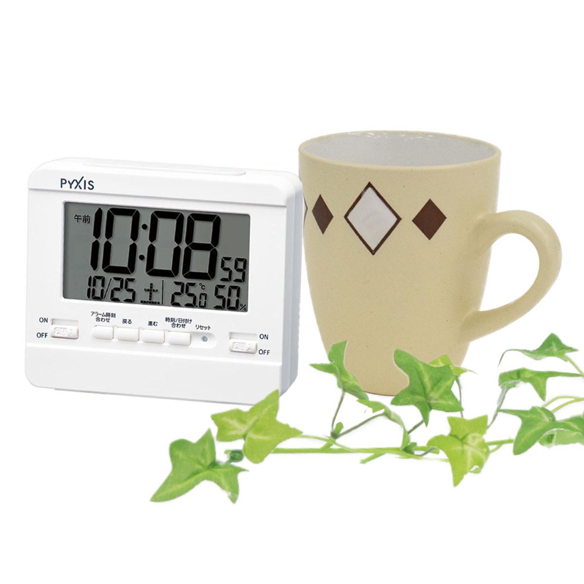 セイコータイムクリエーション社製 PYXIS(ピクシス) 目覚まし時計 NR538W