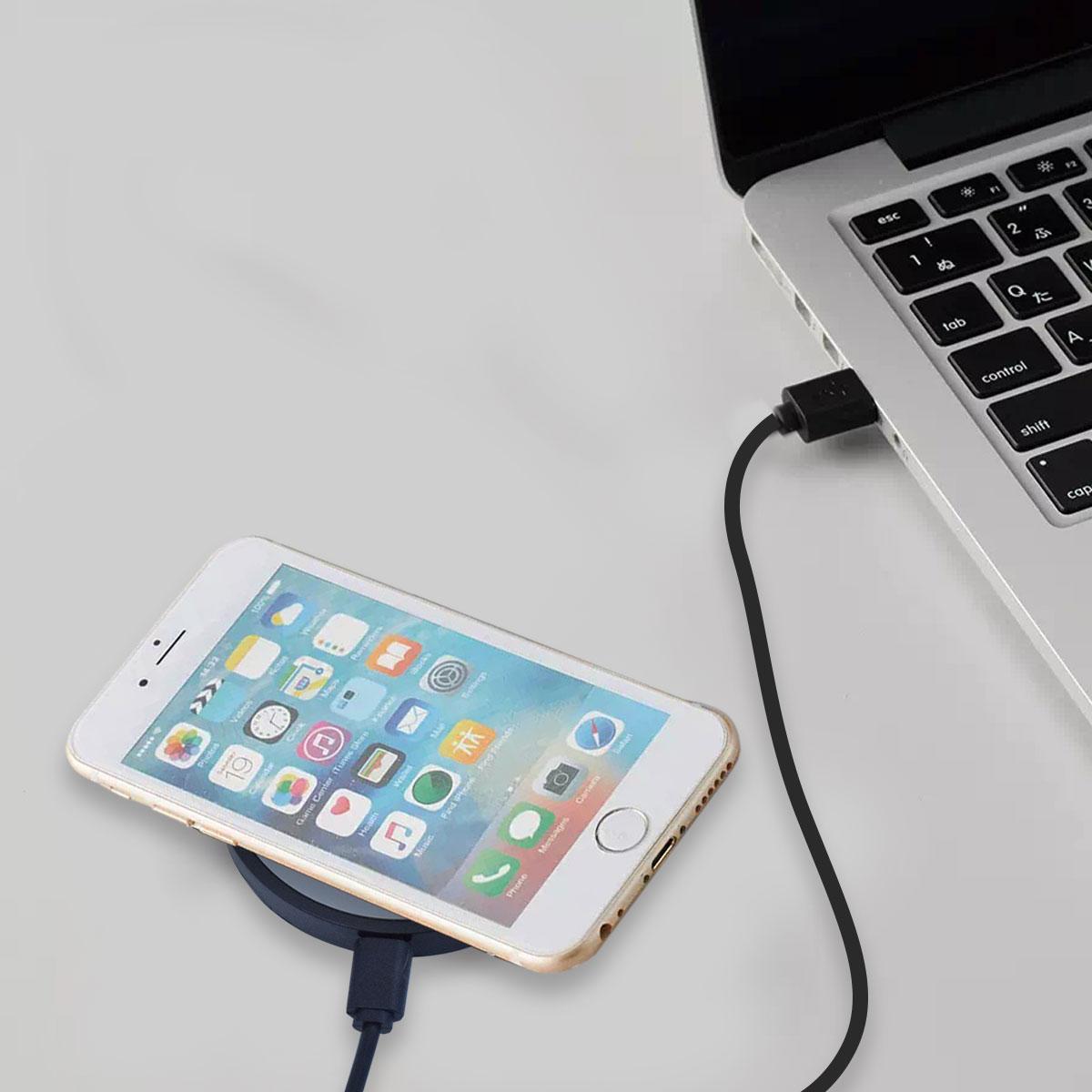 Qi対応 ワイヤレス充電器 ミニパッド