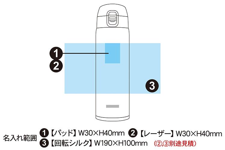 ピーコック ワンタッチ式 ステンレスボトル 550ml AKM-55