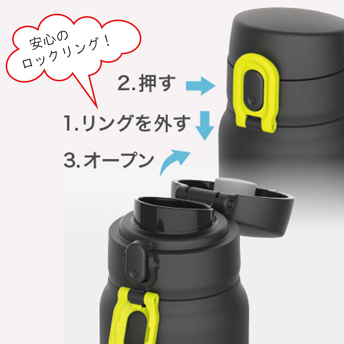 ピーコック ワンタッチ式 ステンレスボトル 600ml AKE-R60